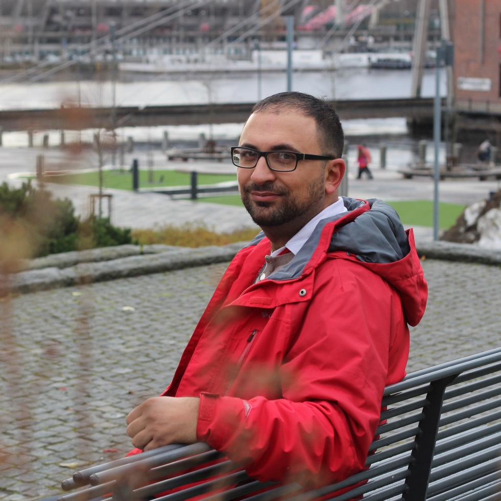 Sahba Frooghi photographed by Peter Seenan in Tampere, Finland in 2017 as part of Finland My Home constructive journalism project for Finland's centenary.