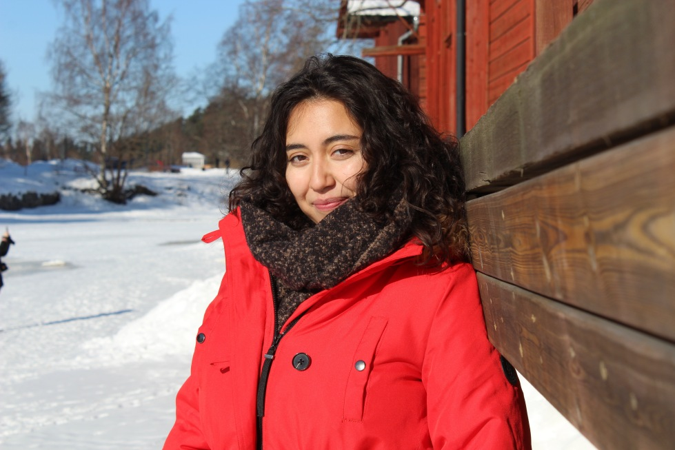Claudia Lorca in Porvoo. Photograph by Peter Seenan
